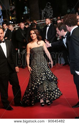 Salma Hayek attends the 'Il Racconto Dei Racconti' Premiere during the 68th annual Cannes Film Festival on May 14, 2015 in Cannes, France.