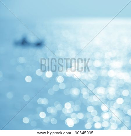 Abstract Nature Sea Background With Kayaking