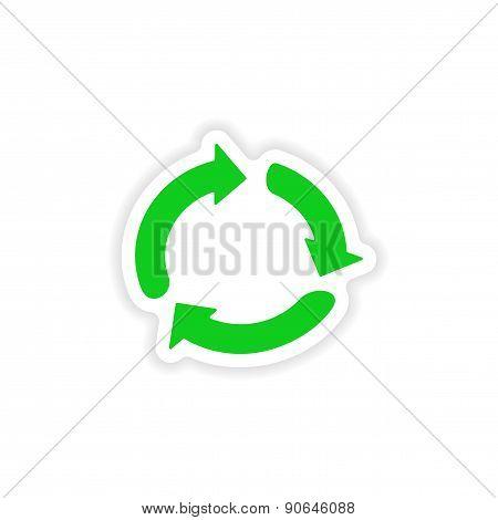 icon sticker realistic design on paper arrows