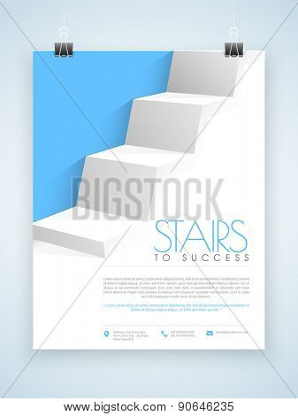Creative professional flyer, template or brochure design for corporate sector.