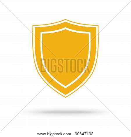 Protection Shield Icon Placed On White
