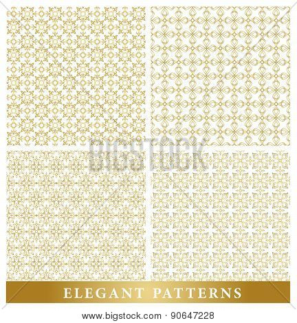 Set of Elegant Islamic or Arabic Seamless Patterns