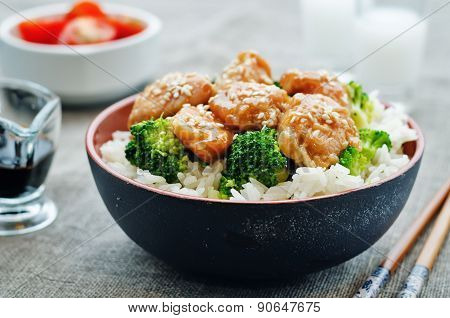 Teriyaki Chicken And Broccoli Stir Fry With Rice