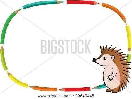 Hedgehog with blank border