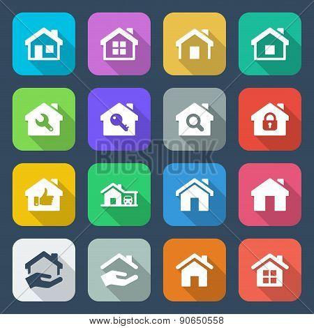 Flat House Iconset