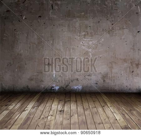 old grunge interior, vector