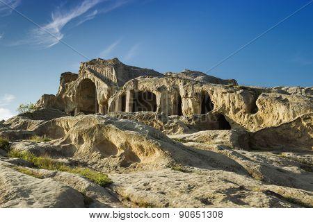 Old cave city Uplistsikhe in Caucasus region, Georgia.