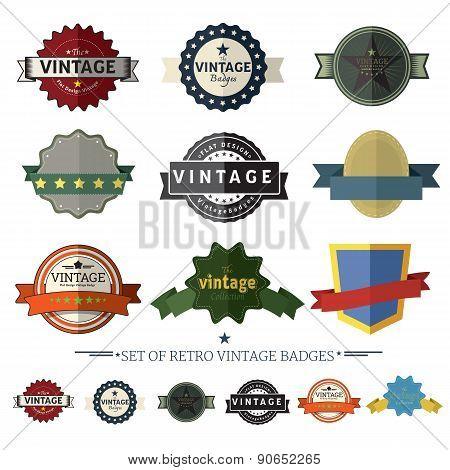 Set Of Retro Vintage Badges And Labels ,set2