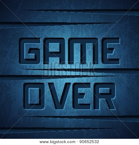 Game Over On Dark Cracked Background