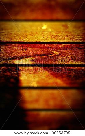 Winding Road Grungy Wooden Panels Texture Background