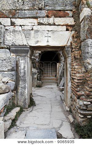 Antigua Christian Doorway.