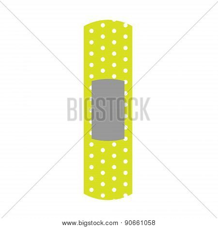 Flat Icon of Plaster Isolated on White Background