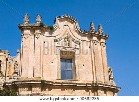 Church of St. Agostino. Matera. Basilicata. Italy.