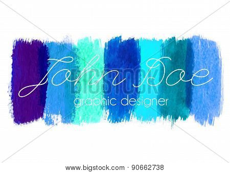 Blue paint logo