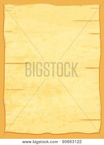 Vector Yellow Crumpled Papyrus Paper. Old Sheet