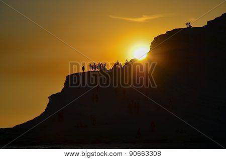 white cliff of Scala dei Turchi (Turkish Staircase) near Agrigento, Sicily