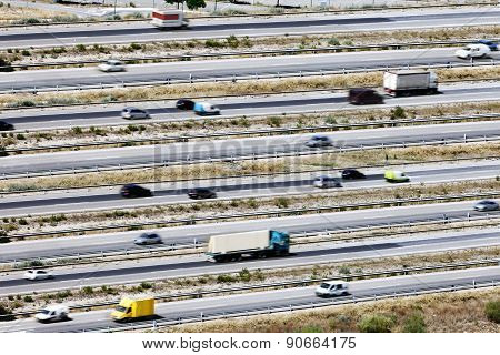 Roads and traffic background