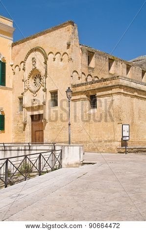 Church of St. Domenico. Matera. Basilicata. Italy.