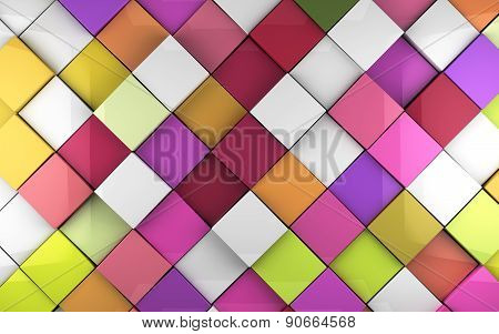 Cubes wall 3d background
