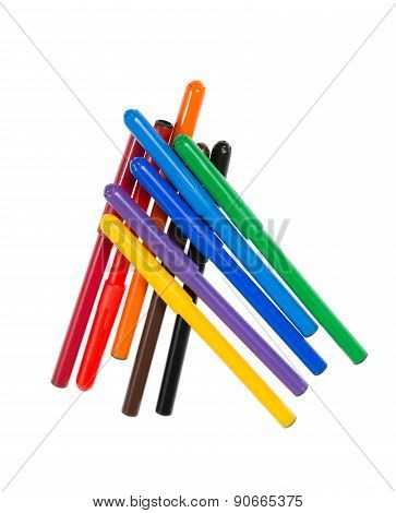 Felt Pens Isolated On White