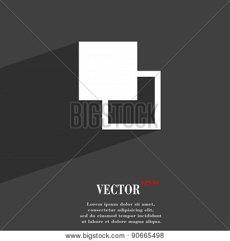 Active Color Toolbar Icon Symbol Flat Modern Web Design With Long Shadow And Space For Your Text. Ve