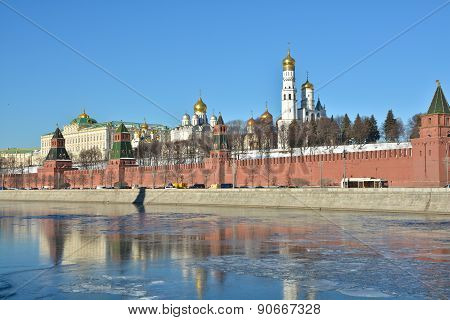 Moscow River, The Kremlin.