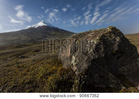 Cotopaxi And Rock