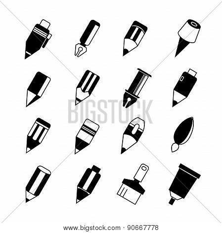 pen and painting tool icons