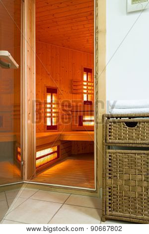 Modern Sauna In A Luxury Apartment