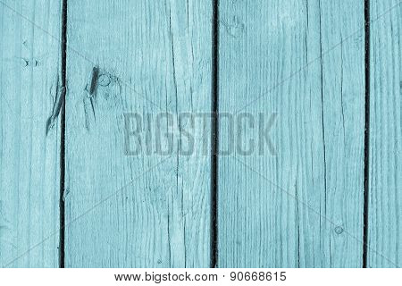 Texture Of Pale Blue Color Old Boards With Cracks