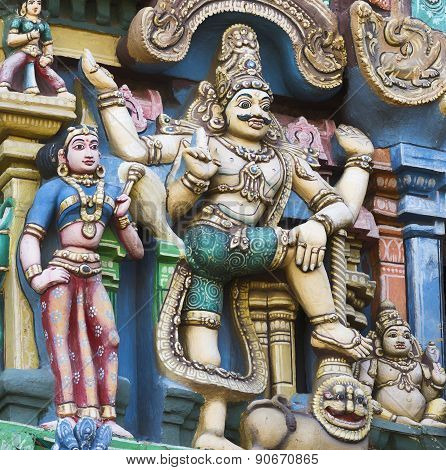 Giant Dwarapalaka On Gopuram.