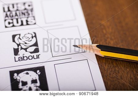 Labour Party On A Ballot Paper