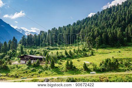 Alpine landscape Zillertal valley, Austria