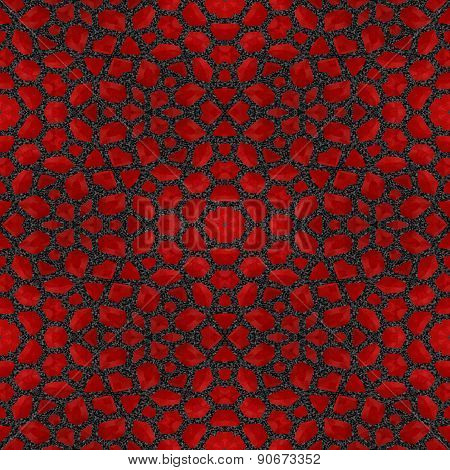 Abstract Red Garnet Stone Tile Or Background Made Seamles