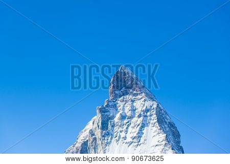 Close Up View Of The Top Of Matterhorn
