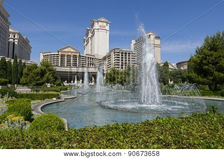 A daytime view of Caesars Palace in Las Vegas.