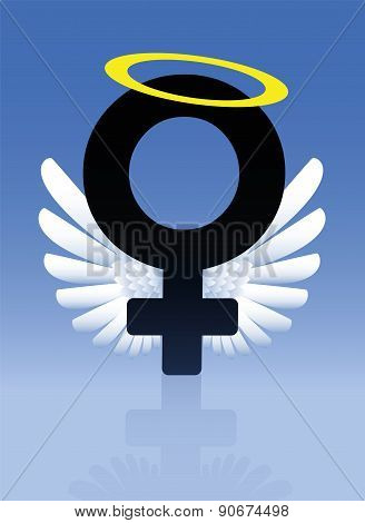 Angel Female Symbol Good Girl