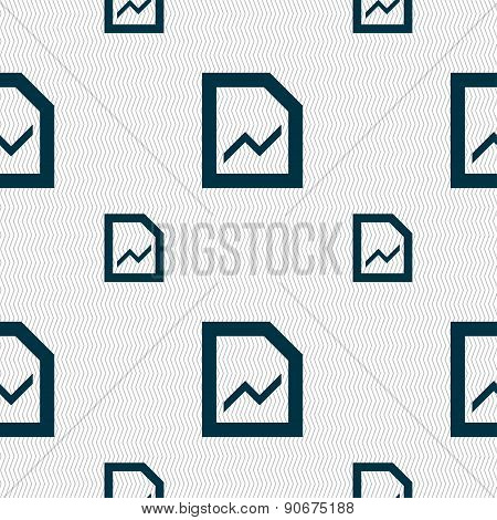 Growth And Development Concept. Graph Of Rate Icon Sign. Seamless Pattern With Geometric Texture. Ve