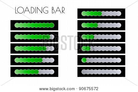 Green Loading Bars