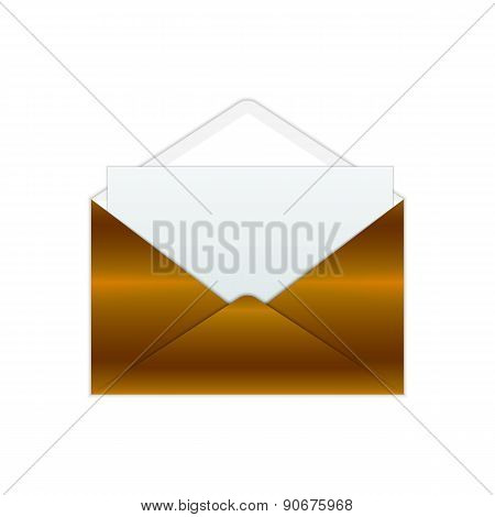 Bronze Envelope And Paper