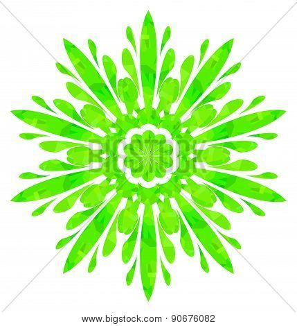 Watercolour pattern - Light green abstract flower