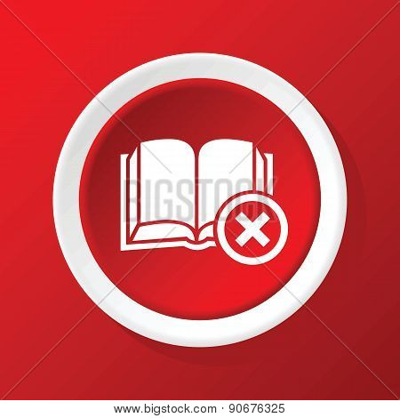 Remove book icon on red
