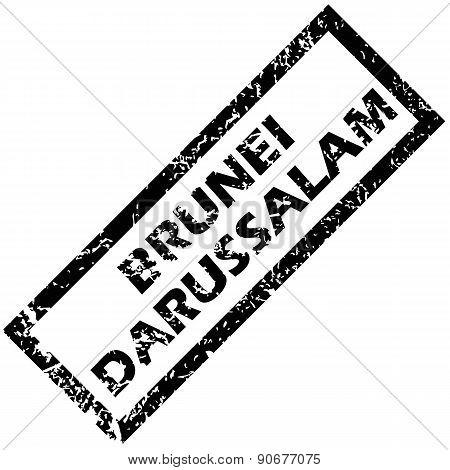 BRUNEI DARUSSALAM rubber stamp