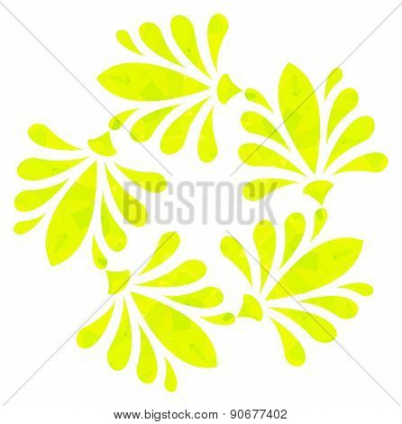 Watercolour pattern - Yellow abstract flower
