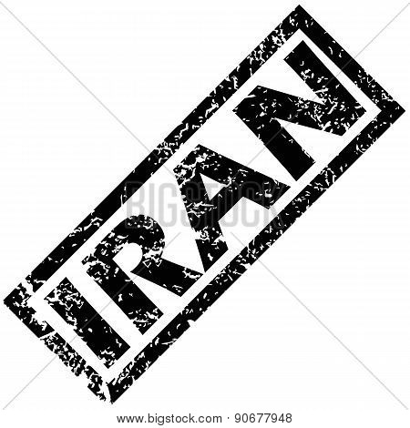 IRAN rubber stamp