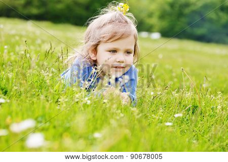 Child On Meadow