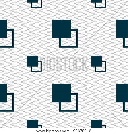 Active Color Toolbar Icon Sign. Seamless Pattern With Geometric Texture. Vector