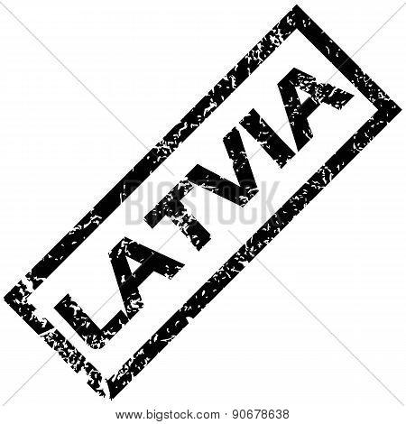 LATVIA rubber stamp