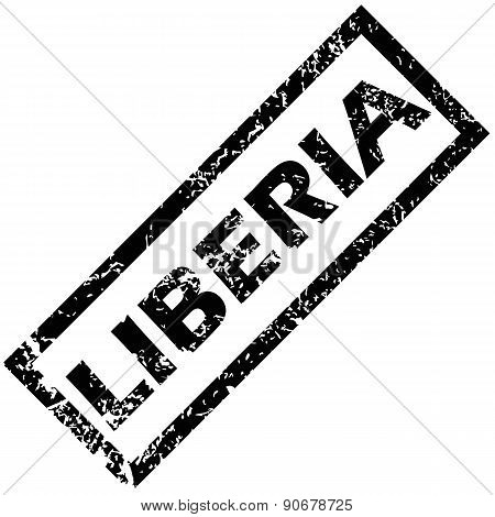 LIBERIA rubber stamp