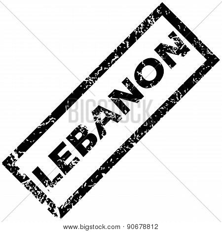 LEBANON rubber stamp